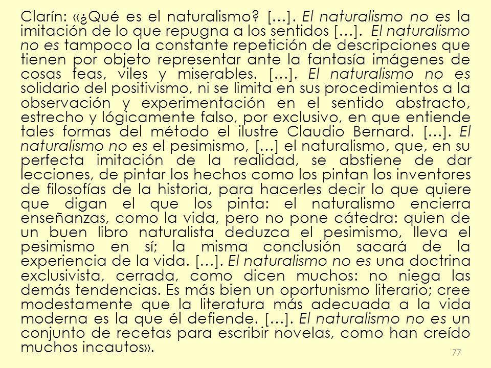 Clarín: «¿Qué es el naturalismo. […]